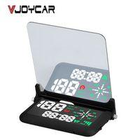 "VJOYCAR EM03b Universal 4"" Car HUD GPS Speedometer Speed Head UP Display Digital"