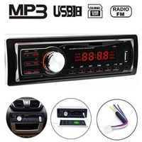 seewellor Autoradio 12V Audio Stereo In-dash 1 Din FM Aux Input Receiver MP3 Player