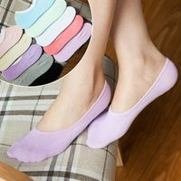 2 Pairs/ Lot summer women cute Candy Color ankle socks female fashion invisible cotton socks ladies boat socks Solid Non-Slip
