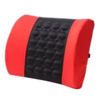 FGHGF Car Back Lumbar Posture Support Electrical Massage Cushion Pillow 12V Van red
