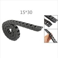 Free Shipping  1M 15 x 30 mm R38 Plastic Cable Drag Chain For CNC Machine,Semi closed not open cover