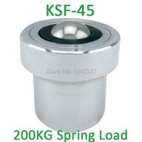 KSF-45 45mm base mounting carbon steel 250/280kgs ball bearing with 200kgf Spring Loading Capacity KSF45 Ball Transfer Units