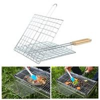 Barbecue Meshes Camping Rack Clip Grill Roast Folder Basket