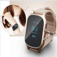 Toogee GPS Navigation Travel Handed Portable Tracker SOS Phone Watch for Kids Golden