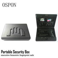Portable Fingerprint security box money gun digital small safe box cold-rolled steel car safe box valuables money jewelry storag