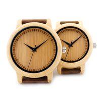 BOBO BIRD A09 Ladies Casual Quartz Watches Natural Bamboo