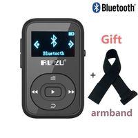 RUIZU X26 Clip Bluetooth MP3 player 8GB 1.1'' Sport Bluetooth mp3 music player Voice Recorder FM Radio Support SD Card+Arm band