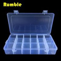 18 Slots Adjustable Grid Multi Function Tools Jewelry Screws Box Storage Beads Hand Tool Electronic Plastic Case PP Transparent
