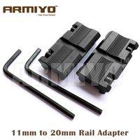 "Armiyo Picatinny 3/8"" 11mm Dovetail 7/8"" 20mm Ring Converter Weaver Rail Adapter"