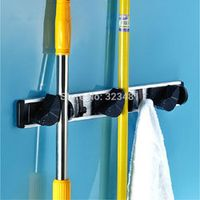 Vestudio Multifunctional Aluminum Bathroom Storage Holder Rack For Mop Broom Umbrella