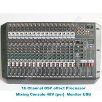 MICWL Professional 16 Channel Dual Group DJ Karaoke Mixing Console Audio Microphone