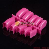 TKGOES 100 Beauty Acrylic Half Plastic False UV Gel French Nail Art Tips Salon Finger