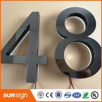 shsuosai Mirror stainless steel 3D channel letters