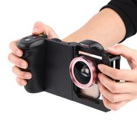 Black Durable Smartphone Cage Protector Video Mount Case with Wide Angle Lens