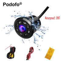 Podofo Mini Car Backup Camera HD Reverse Rear View Cameras with 8 LED Night Vision