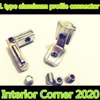 10pcs 2020 T Slot L Shape Type Aluminum Profile Accessories Interior Corner Connector Joint Bracket for 20 profile(with screws)