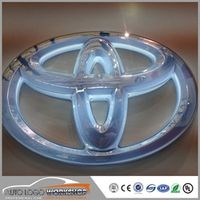 shsuosai PC plate Injection Molding Luminous Car Logo
