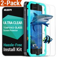 Screen Protector for iphone SE, ESR 2 Pack Tempered Glass Screen Protector with Free Applicator for iphone 5s/ SE/ 5