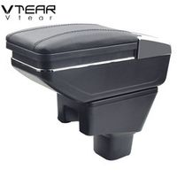 Vtear For SUZUKI SX4 armrest box central Store content cup holder ashtray decoration