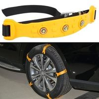 One Pcs Car Snow Tire Anti-skid Chains 145-295mm Beef Tendon Thickening Emergency Vehicle Wheel Antiskid TPU Chain