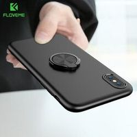 FLOVEME Ring Case For iPhone X 10 8 Luxury Ultra Thin Matte Car Magnetic 7 8 Plus