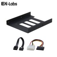 En-Labs 3.5-Inch to x SSD / 2.5-Inch Internal hard drive bay Metal Mounting Kit Bracket Holder W/ 15cm SATA and Power Cable Kit
