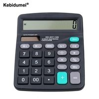kebidumei Commercial Tool Battery Solar 2in1 Powered 12 Digit Electronic Calculator