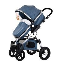 Baby Stroller Infant Pushchair Portable Travel Sleeping Basket Comfy Newborn Baby Carriage Five-Point High View Baby Strollers