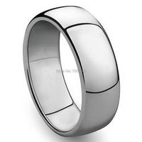 3mm to 8mm 316L Stainless Steel Shiny Polished Ring Comfort Fit Men Women Wedding Engagement Band Sizes 5 to 15