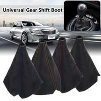 Auzan Universal Carbon Fiber Auto Gear Shift Collars Car Manual Shifter Boot Cover
