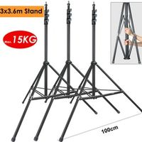 ightpro 3x3.6m Heavy Duty Support Photo Video Steel Metal Light Stand for Studio