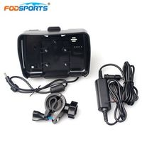 Fodsports motorcycle gps navigation accessories cradle holder with power cable