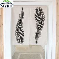 MYRU Cartoon Animanl Zrbra Dimidiate Cotton Linen Household
