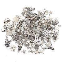 Fashion Plated Tibetan Silver Mixed charms Pendants fit bracelet DIY Jewelry making 100 pcs/lot