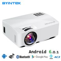 BYINTEK Projector L5/Plus/Android for Home Theater 1800 Lumens HDMI Support