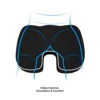 SUNZM Black Coccyx Orthopedic Seat Cushion Lumbar Support Comfort Memory Foam Pad