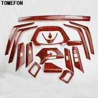 TOMEFON For Toyota RAV4 RAV 4 2013 2014 2015 ABS Wood Paint Air Vent Window 17pcs