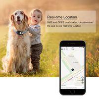 KKMOON Mini Waterproof GPS Dog Collar Tracker Locator for Kids Children Pets Cats
