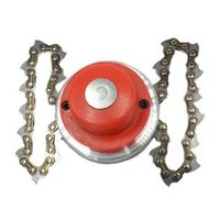 PARADISE Power Grass Trimmer Head Steel Chain Saw Links Easy Cutting for Brush Cutter