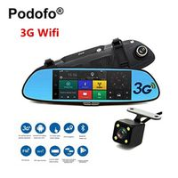 "Podofo 3G Car DVR 7"" Android 5.0 GPS Registrar Navigation Video Recorder Bluetooth"