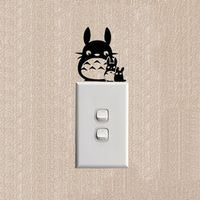 Totoro Funny Cartoon Cat Switch Stickers Decoration Fashion Wall Decal 2SS0268