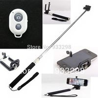 3in1 monopod clip Bluetooth Remote Camera Control Self-timer Shutter for iPhone 6S 6 7 7P ipad5 air for Galaxy S4 Note3 S3 S5
