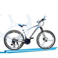 24/26 inch aluminum-speed dual-disc damping Steed three knife mountain bike road bike