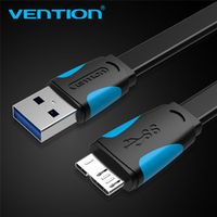 2m Vention Micro USB 3.0 For Samsung S5 Note 3 USB Flex Data Sync Cable Transfer