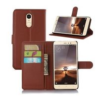 Mornrise Luxury PU Leather Flip Cover For Xiaomi Redmi 4X Wallet Case With Stand