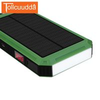 Tollcuudda LCD Solar Power Bank 15000mAh External Battery Pack With Electric
