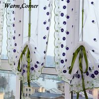 Embroidered Flower Tulle Window Screens Door Balcony