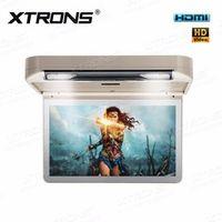XTRONS 13.3 inch Beige Car Roof mount DVD Drive Player flip down 1080P Video HD