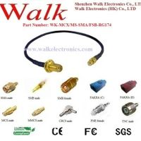 SZ.Walk MCX male straight SMA female rg174 cable MCX SMA gps antenna