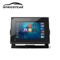 APRICOTCAR 7-inch Touch Screen Display LED Backlight Marine GPS Navigation Side Sweep